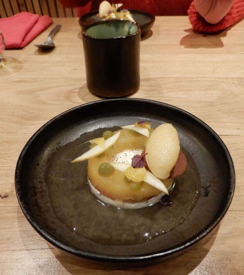 Pomme, céleri branche, yuzu.